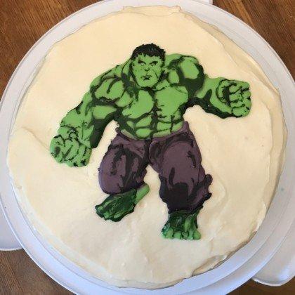 The Hulk Cake