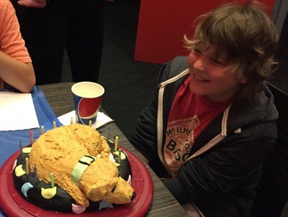 Ethan, with the Shaggy Cake